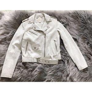 Michael Michael Kors cracked leather biker jacket